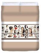 Portraits Of Lovely Asian Women  Duvet Cover