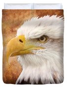 Portrait Of A Bald Eagle Duvet Cover