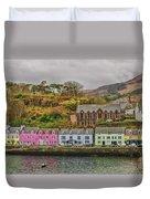 Portree Harbour Duvet Cover