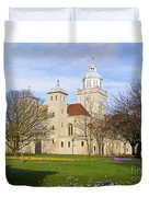 Portsmouth Cathedral In Springtime Duvet Cover