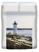 Portsmouth Harbor Light Duvet Cover