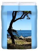 Portsmouth Harbor Light Duvet Cover