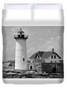 Portsmouth Harbor Lighthouse Duvet Cover