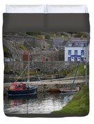 Portsoy Harbour Duvet Cover