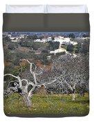 Portuguese Almond Plantation Duvet Cover