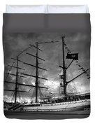 Portuguese Tall Ship Duvet Cover