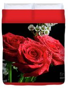 Posey Of Roses Duvet Cover by Tracy Hall