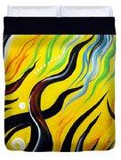 Positive Energy. Abstract Art Duvet Cover