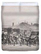 Post Horses Duvet Cover