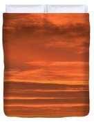 Post Sunset Clouds Duvet Cover