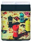 Postage Pop Art Duvet Cover