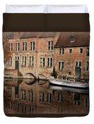 Postcard Canal II Duvet Cover