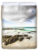 Postcard Perfect Ocean Background Duvet Cover