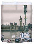 Postcards From Westminster Duvet Cover