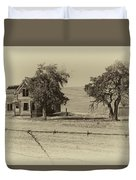 Barbed Wire - No Trespassing Duvet Cover