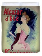 Poster Advertising Alcazar Dete Starring Kanjarowa  Duvet Cover