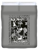 Poster Advertising Victor Bicycles Duvet Cover