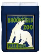 Poster For The Brookfield Zoo Duvet Cover