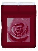 Poster Rose Duvet Cover