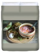 Pot Of Ukrainian Borsch Duvet Cover