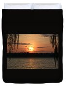 Potomac River Sunset In March Duvet Cover