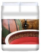 Pottery Abstract Duvet Cover