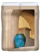 Pottery And Archways Duvet Cover by Sandra Bronstein