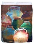 Pottery Jars Duvet Cover