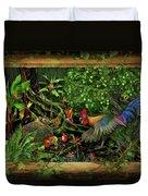 Poultrified Garden Of Eden Duvet Cover