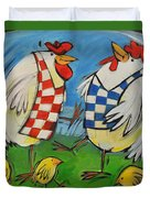 Poultry In Motion Duvet Cover
