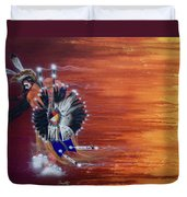 Pow-wow Dancer Duvet Cover