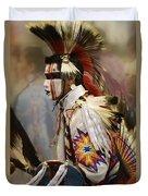 Pow Wow First Nation Dancer Duvet Cover
