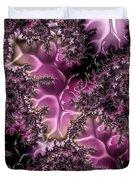 Powder Pink Black Gloss Fractal  Duvet Cover