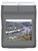 Powdered Spokane River Duvet Cover