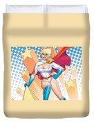 Power Girl Duvet Cover