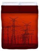 Power Lines Duvet Cover