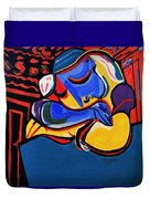 Power Nap  Picasso By Nora Duvet Cover