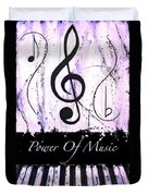 Power Of Music Purple Duvet Cover
