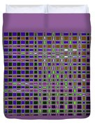 Power Tower And Agave Checkerboard Abstract Duvet Cover