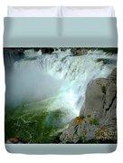 Powerful Large Waterfall Shoshone Falls Amazing Beauty Water Fal Duvet Cover