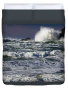 Powerful Waves Crash Ashore Duvet Cover