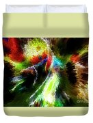 Powwow Dancer Abstract Duvet Cover