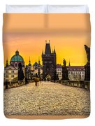 Prague - Charles Bridge - Czech Republic Duvet Cover