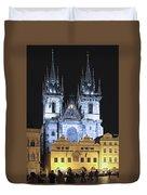 Prague Old Town Square Duvet Cover