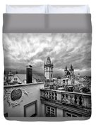 Prague View From The Top Duvet Cover