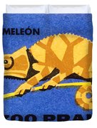 Prague Zoo Chameleon Matchbox Label Duvet Cover