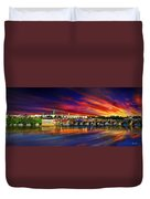 Pragues Historic Charles Bridge Duvet Cover
