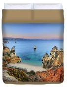 Praia Do Camilo At Sunset  Duvet Cover