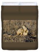 Prairie Dog Couple Duvet Cover