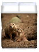 Prairie Dogs Duvet Cover